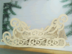 Wooden Decorative Sleigh Template Laser Cut CDR File