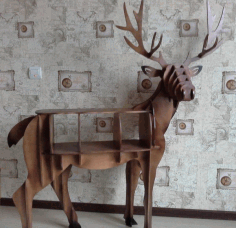 Wooden Deer Table Organiser CNC Laser Cutting File CDR File