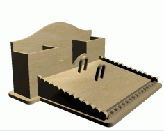 Wooden Desk Organizer Laser Cut DXF File