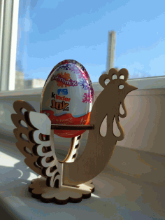 Wooden Easter Egg Stand Party Decoration Laser Cut CDR File