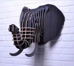 Wooden Elephant wall Hanging CNC File Free CDR File