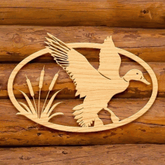 Wooden Flying Birds Free Vector CDR File