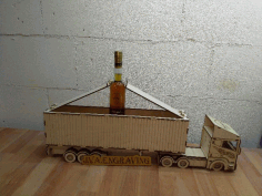 Wooden Gift Box Truck Free CDR File