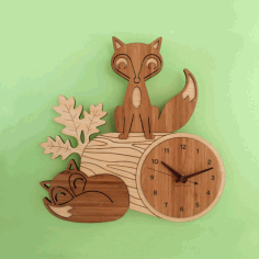 Wooden Hanging Clock CNC Free CDR File