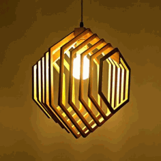 Wooden Hanging Lamp CNC Cutting File Free CDR Vectors File