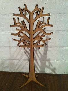 Wooden Jewellery Display Tree 3mm DXF File