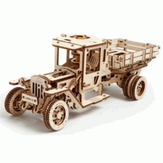 Wooden Loader Truck 3D Puzzle CDR File