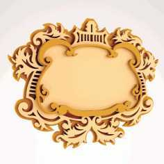 Wooden Mirror Frame Free DXF Vectors File