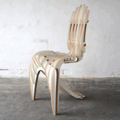 Wooden Modern Chair Design DXF File