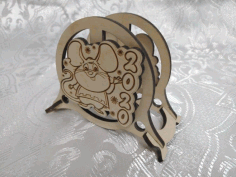 Wooden Napkin Holder Mouse 2020 Laser Cut Design CDR File