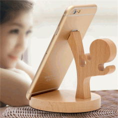 Wooden Ninja Phone Stand Laser Cut CDR File