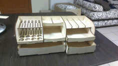 Wooden Organizer CNC Laser Cutting Free CDR File