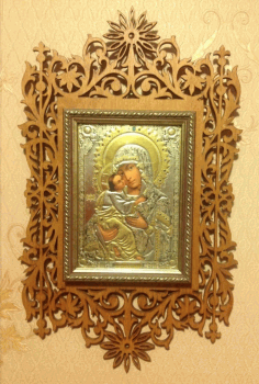 Wooden Orthodox Photo Frame Laser Cut CDR File