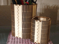 Wooden Pen Holder 4mm Laser Cut DXF File