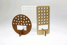 Wooden Pen Holder 5mm Laser Cut Free CDR File
