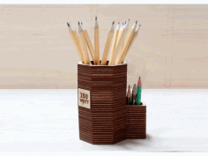 Wooden Pencil Stand CNC Laser Cutting Free CDR File