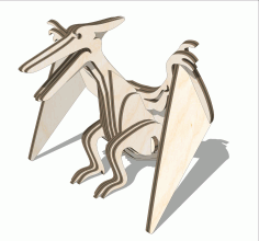 Wooden Pterodactyl Toy Laser Cut DXF File
