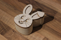 Wooden Rabbit Shape Box DXF Vectors File