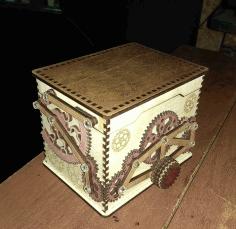 Wooden Safe Box CDR File
