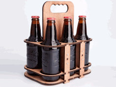 Wooden Six Pack Holder Laser Cut CDR File
