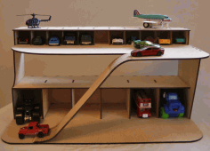 Wooden Toy Garage Cars Parking Free CDR File