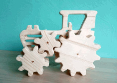 Wooden Tractor Toy Laser Cut Free CDR File