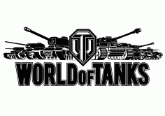 World of Tanks Logo Vector Laser Cut CDR File