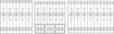 Wrought Iron Fence Window Laser Cut CDR File