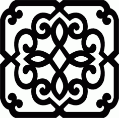 Wrought Iron Frame Pattern Free DXF Vectors File