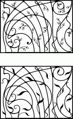 Wrought Iron Gate, Door, Fence, Window, Grill, Railing Design Vector Art Laser Cut CDR File