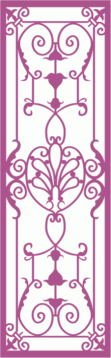 Wrought Iron Grille Pattern Laser Cut CDR File