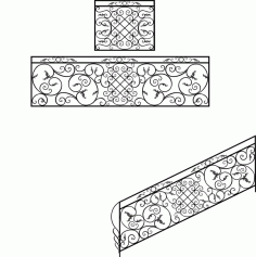 Wrought Iron Stair Railing Design Laser Cut CDR File