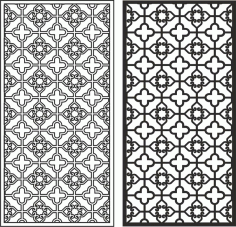 Xinjiang pattern vector Laser Cut CDR File