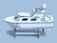 Yacht Laser Cut Puzzle Model Free CDR Vectors File