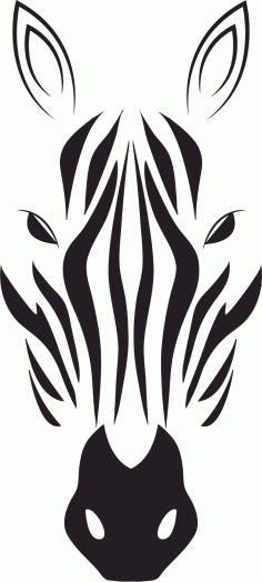 Zebra Head Vector Laser Cut CDR File