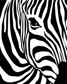 Zebra Print Vector Laser Cut CDR File