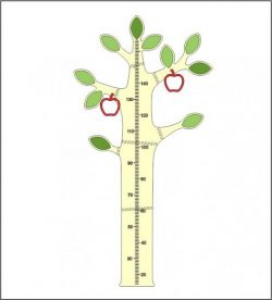 Apple Tree Height Measure Laser Cut Free DXF Vectors File