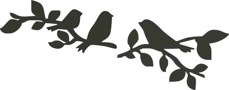 Birds Sitting on Branch Silhouette vector Laser Cut CDR File