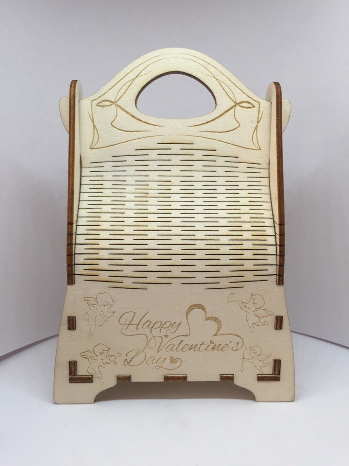 Champagne Gift Box Wooden Champagne Wine Bag Laser Cut CDR File