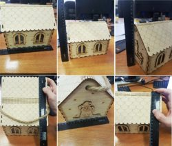 CNC Laser Cut Wooden Mouse Houses CDR File