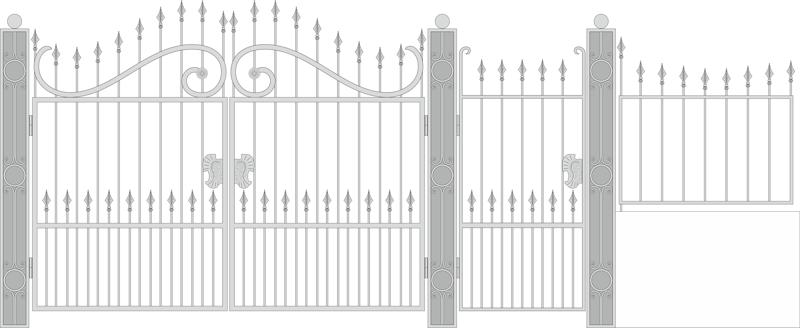 Design Forged Gate Wicket Vector Free Vector CDR File
