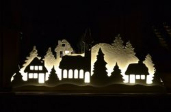 Electricity Pictures Shaped House for Laser Cut CNC CDR File