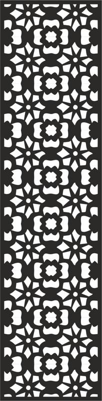Flower Carving Pattern Free CDR Vectors File