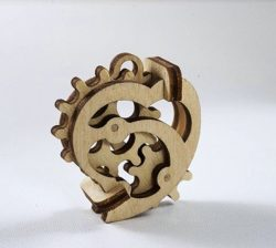Gear Heart for Laser Cut CDR File