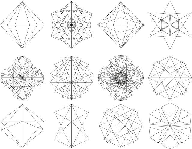 Geometric Clock 8 \u2022 Laser-Cut Files \u2022 CNC \u2022 Vector Files \u2022 .dxf \u2022 .dwg \u2022 .svg