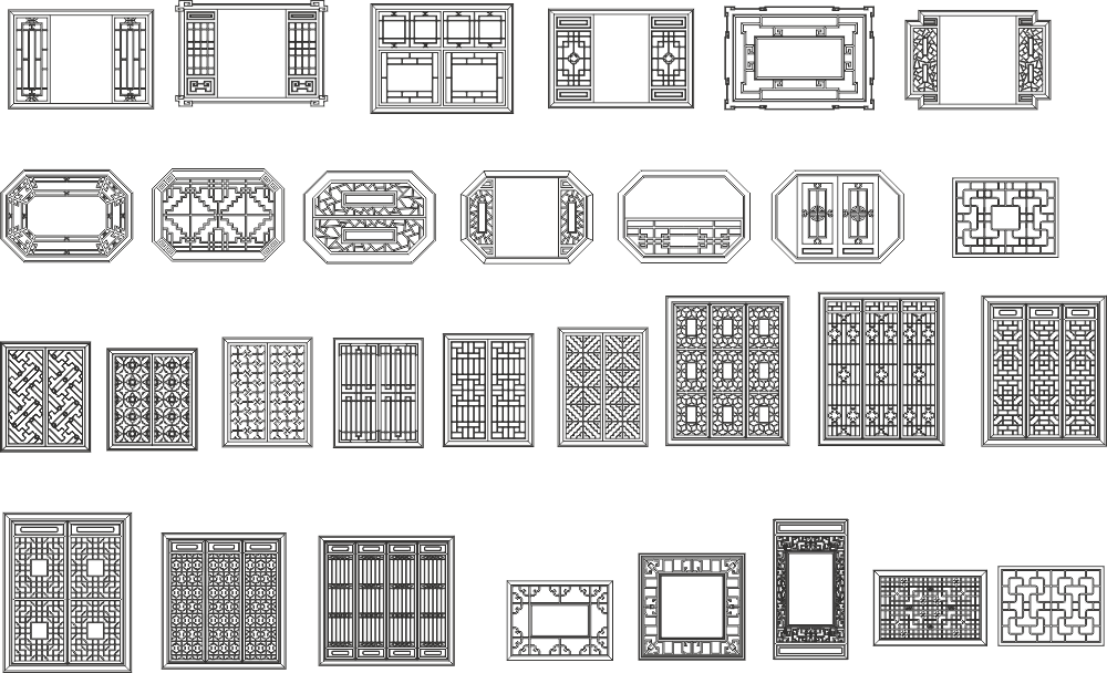 Grill Design And Frames Free CDR Vectors File