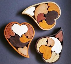 Heart Puzzle for Laser Cutting DXF File