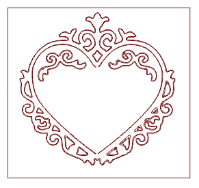 Heart Template Laser Cut DXF File