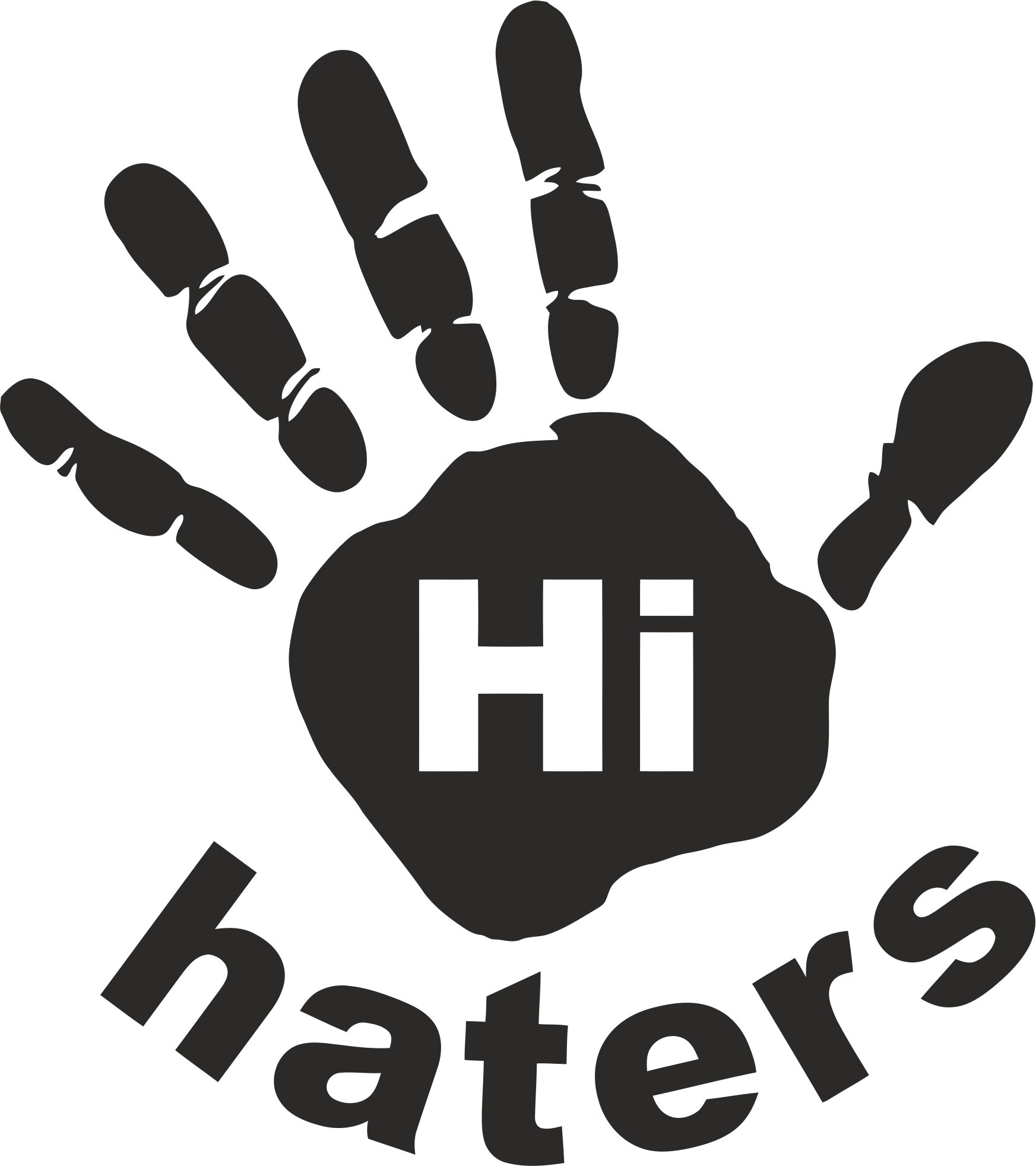 Hi Haters Decal Vector Laser Cut CDR File