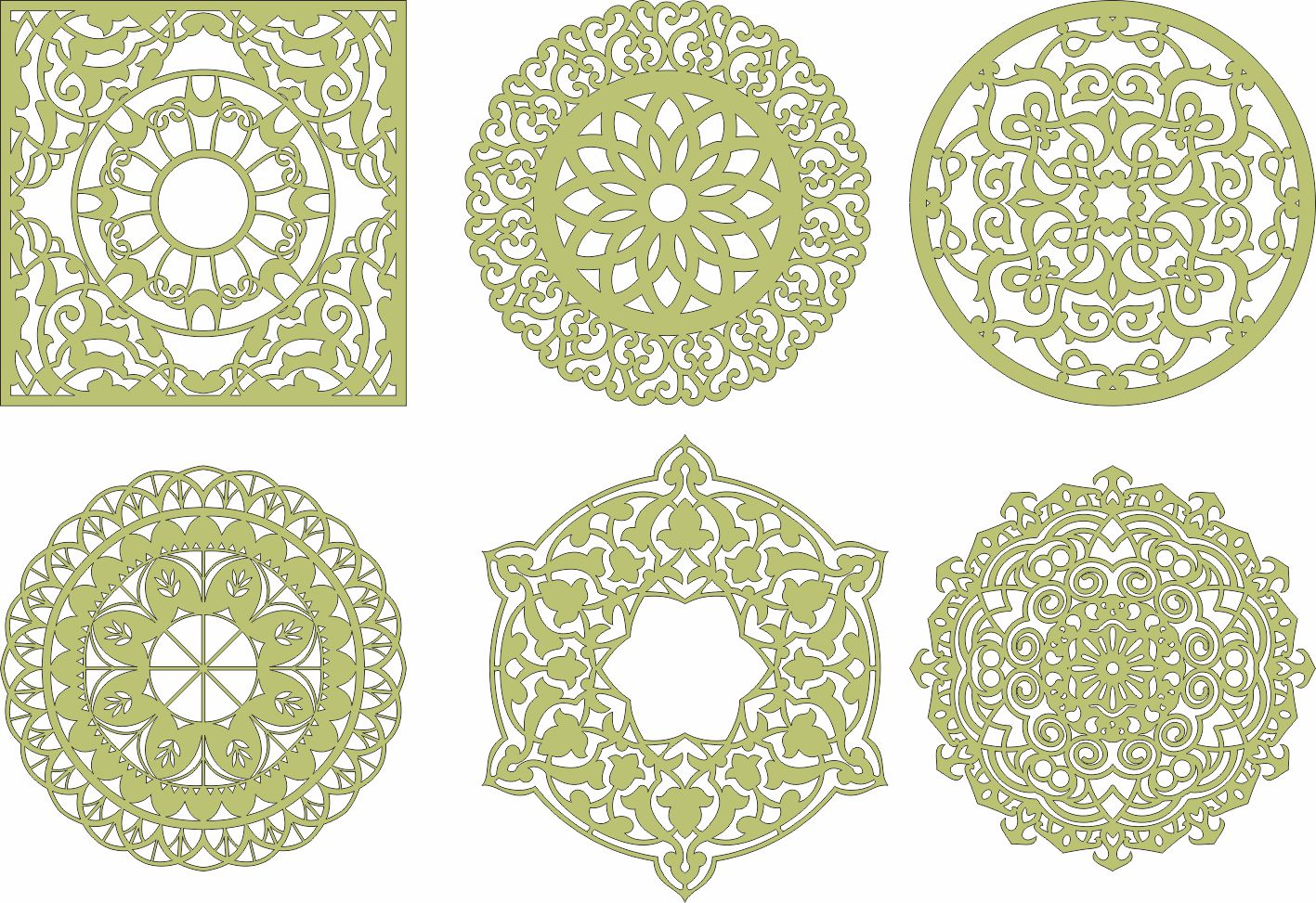 Laser Cut Mandala Decorations Ornament CDR File